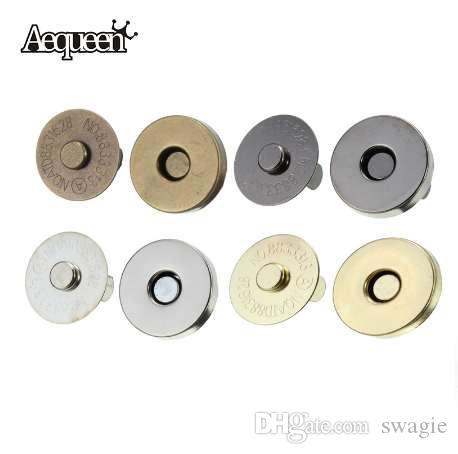 5 adet / grup 18mm Manyetik Yapış DIY Çanta Çanta Toka Kapaklar Çanta Aksesuarları Parçaları Metal Düğme Çanta Kilitleri metal tokalar için çanta
