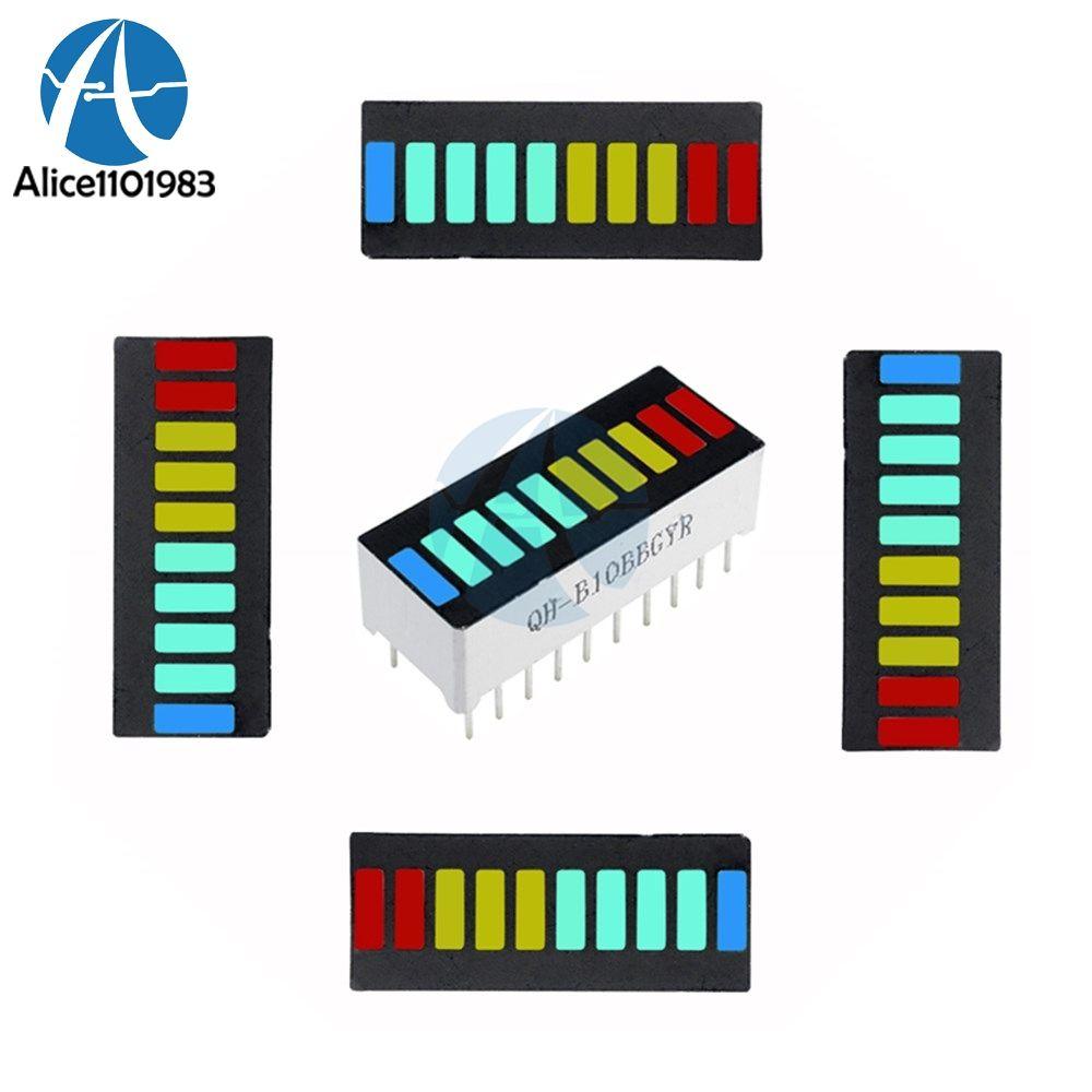 5pcs New 10-Segment Green Color Bar LED