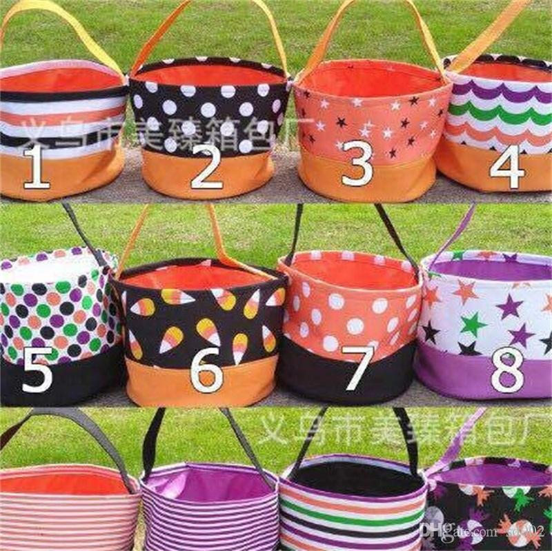 Halloween Printing Bucket Gift Wrap Ragazze Ragazzi Child Candy Collection Borsa Spirit Spirit Storage Cestino 11 5jz bb