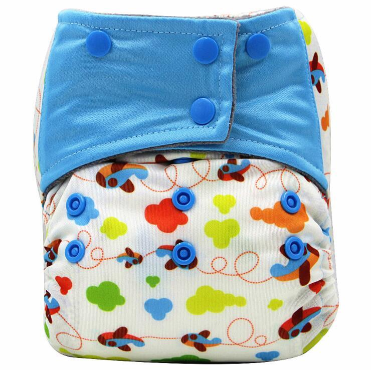 AIO snaps cloth diapers reusable ecological cloth Baby Diapers one size pocket diaper wholesale Washable Diapers