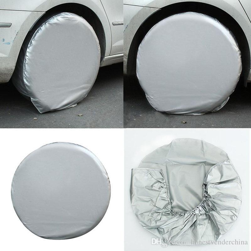 4pcs Set Wheel Tire Covers Accessories for RV Truck Car Dustproof Camper