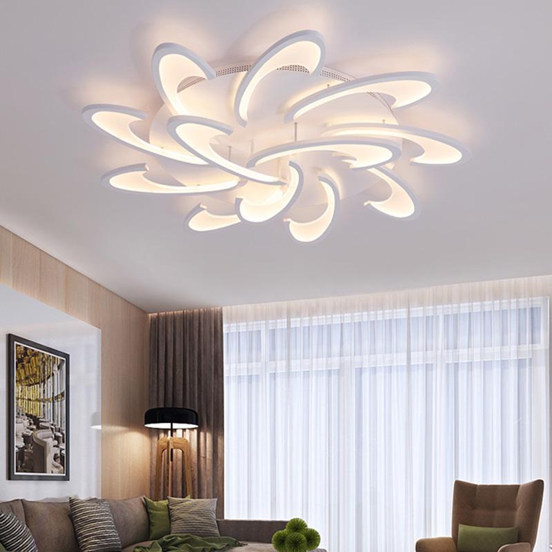Großhandel Moderne Acryl Design Deckenleuchten Schlafzimmer Wohnzimmer 90 ~  260 V Weiß Deckenleuchte Led Hause Beleuchtung Leuchten Plafonnier Von ...