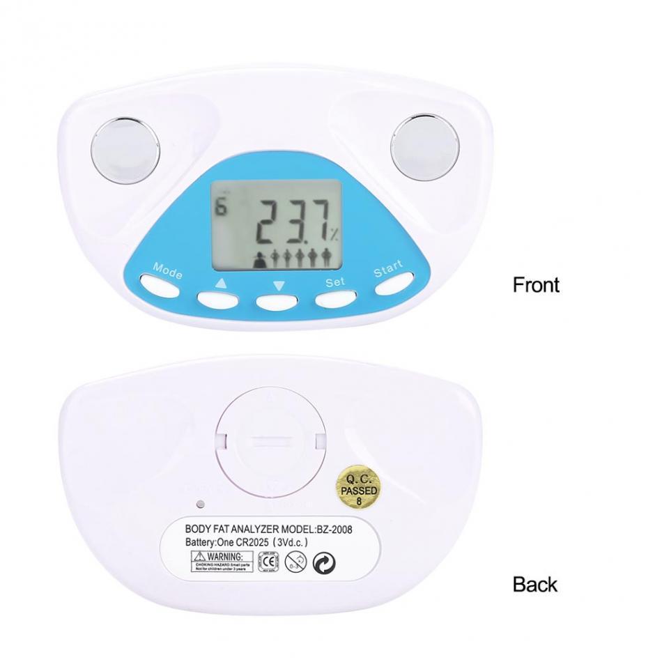 Taşınabilir Vücut Yağ monitör BMI Tester Analyzer LCD Ekran Yağ Ölçer Algılama Sağlık Kilo Kaybı Kontrolü