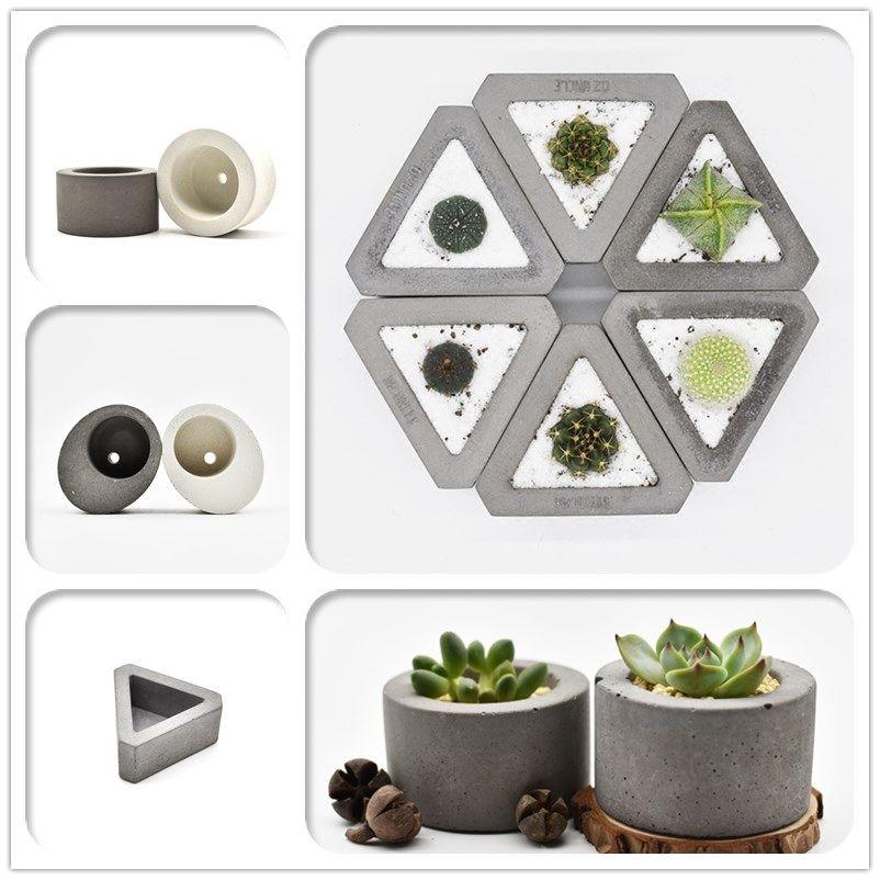 라운드 실리콘 콘크리트 화분 시멘트 화병 금형 꽃 냄비 실리콘 금형 데스크 장식