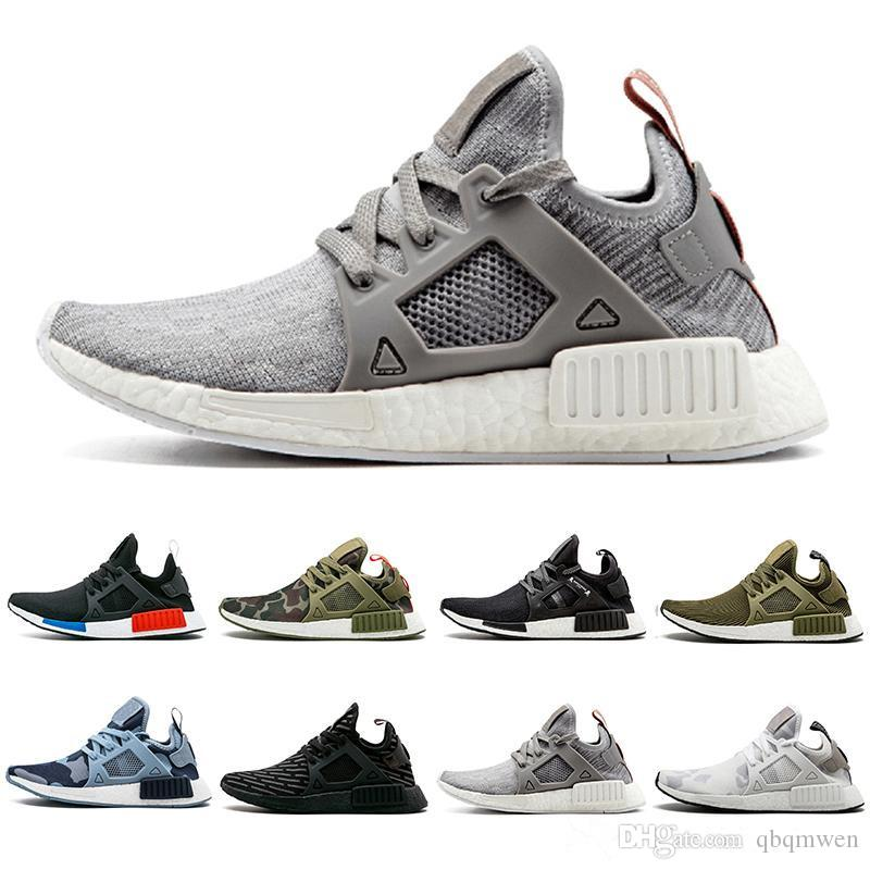 brand new bbf8c 9e78b New Grey NMD XR1 Running Shoes Mastermind Japan Olive Green Camo Glitch  Black White Blue Pack OG Classic Men Women Sports Sneskers 36 45 Black  Running ...