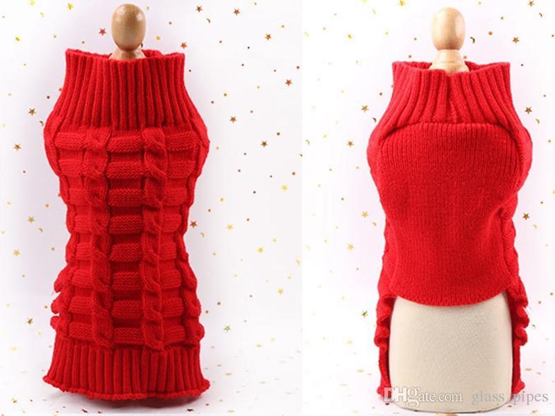 Compre Suéteres Para Perros Perro Pequeño Suéter Trenzado Color ...