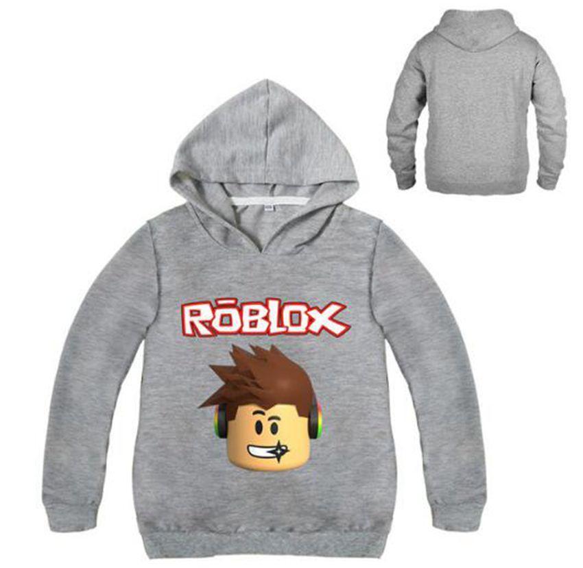 Boys Cartoon Roblox Hoodie Sweatshirt Chidlren Clothing Roblox Red
