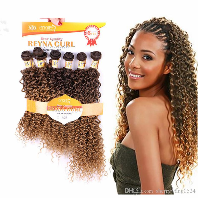 Hair Package Different Types Of Curly Weave Hair Bundles Blond#4 ...