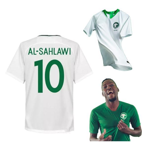 hot sale online 81ed3 f30ed 2018 Saudi Arabia Soccer Jersey 2018 World Cup Saudi Home White Away Green  Nawaf Majed 2019 Al Sahlawi Football Uniforms Shirt Camiseta From ...
