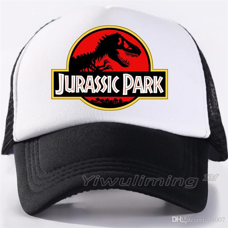 Jurassic Park Dinosaurier Trucker Caps Einstellbare Jurassic Park Frauen kühlen Sommer kühlen Mesh-Baseball-Caps Hüte
