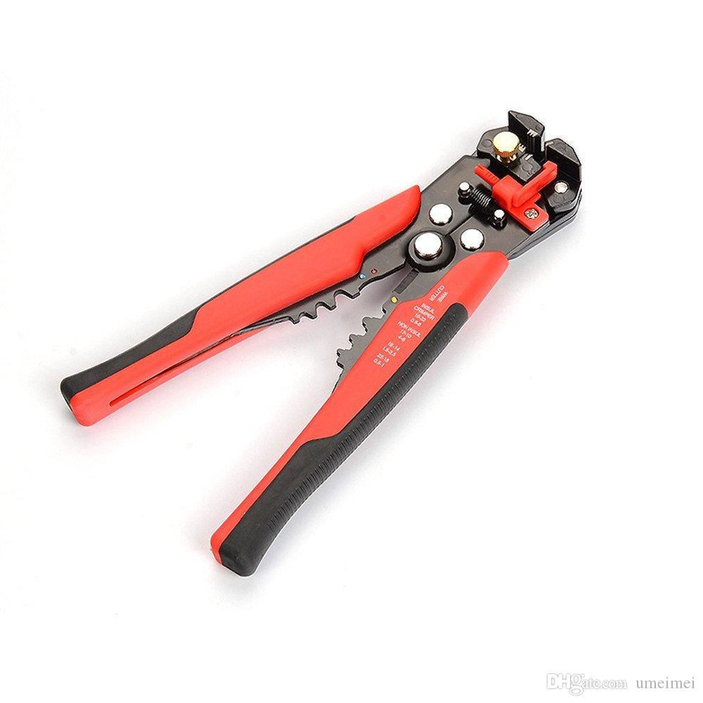 Wire Stripper, Self-adjusting Cable Cutter Crimper,Automatic Wire Stripping Tool/Cutting Pliers Tool for Industry(red)