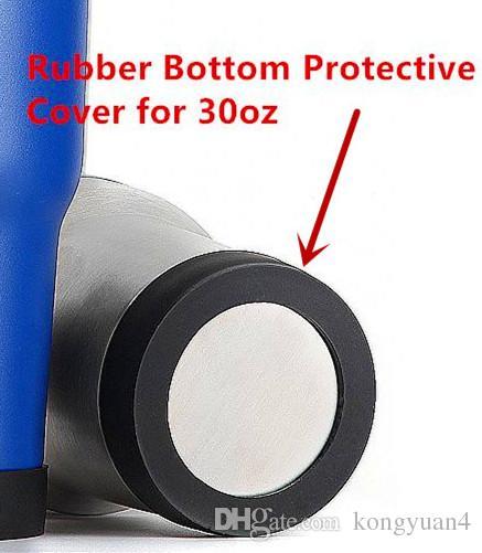 Tampa protetora com fundo de borracha de 70mm para canecas de copos de aço inoxidável de 30 oz que podem impedir a formação de falhas no fundo.