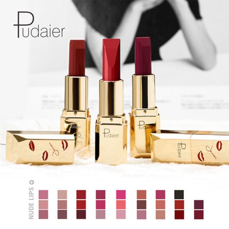 4 Pcs/Set Lipsticks Mae Long Lasting Lip  Moisturizer Smooth Velvet Lip Stick 26 Color