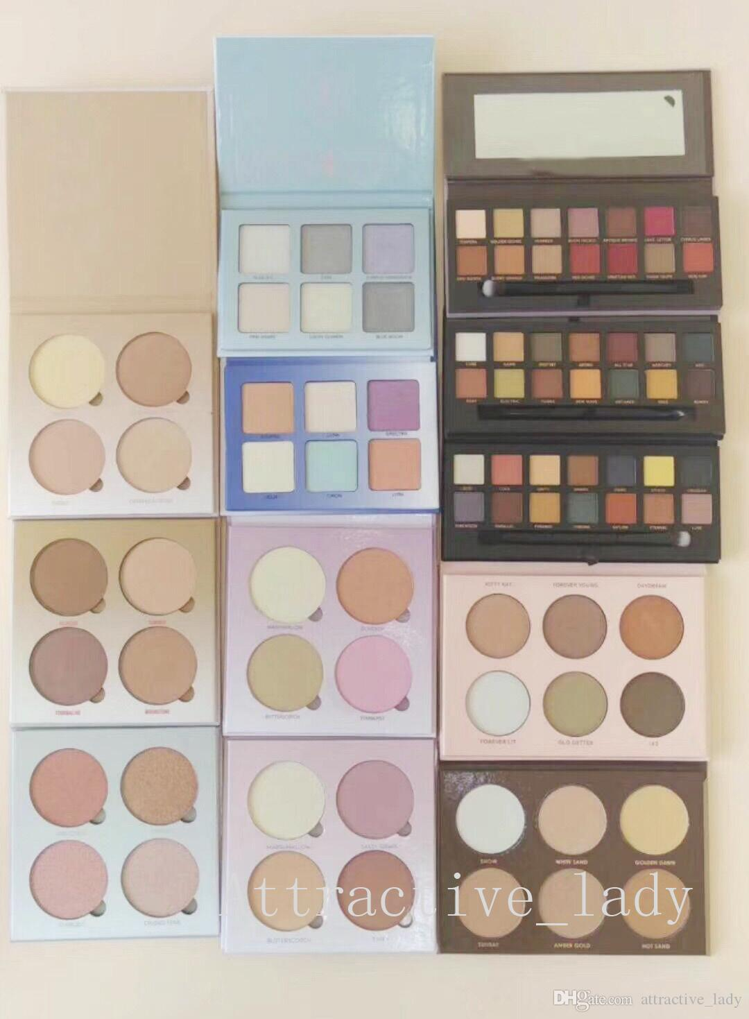 New High-quality Makeup Super Beauty Highlight Palettes 4colors 6colors 11styles Highlight Palette Free shipping