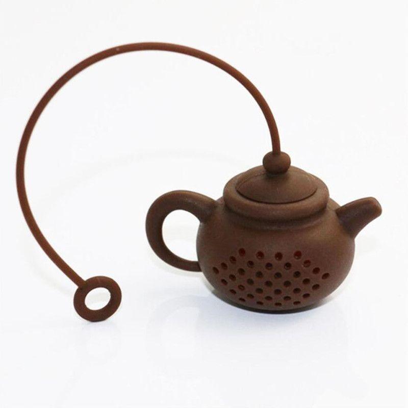 Yaratıcı Silikon Çay Süzgeçler Çay Çanta Pot Şekli Filtre Demlik Güvenli Temiz Demlik Şekil Çay Süzgeç Mutfak