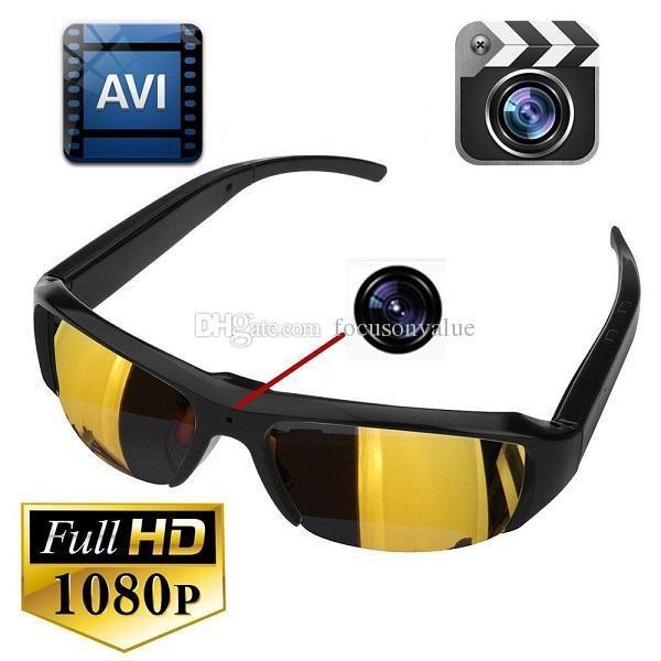 1080P Sunglasses Camera Mini Portable Camcorder Full HD Glasses DVR Pinhole Camera Video Recorder Sunglasses Camera with retail box