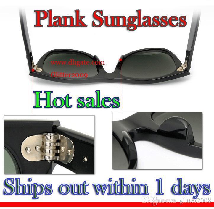 Haute Qhigh Qualier Plank Sun Lunettes de soleil Noir Lunettes de soleil Verre Métal Charnière Sunglasses Sunglaomen Lunettes de soleil Unisexe Sun Lunettes G Xeevu