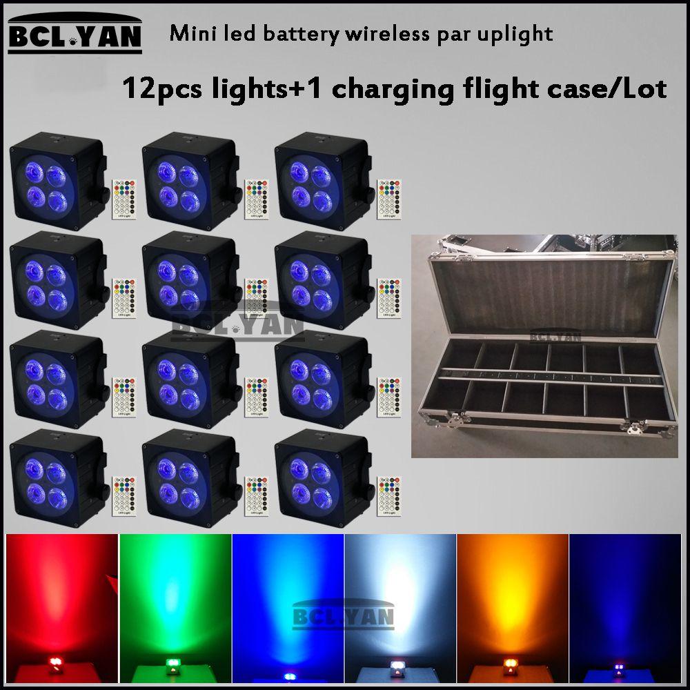 12XLot DMX Wireless Battery Powered LED Par Light RGBWA+UV 6in1 Color Led Wash Light DJ Lights Uplights IRC recmote Control