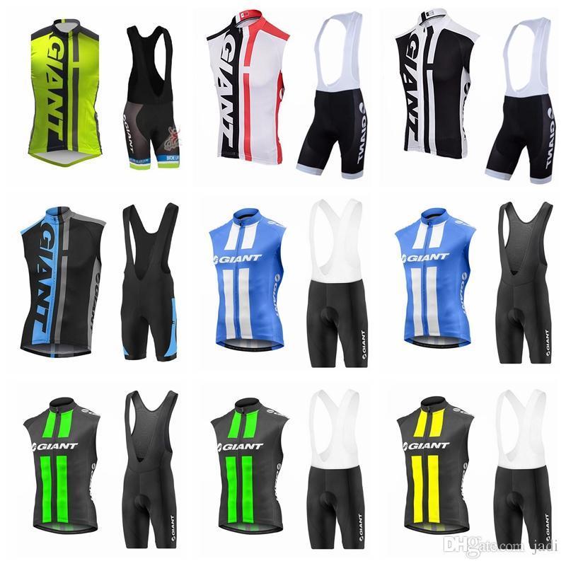 2018 GIANT team Cycling Short Sleeves jersey (bib) shorts sets Pro Team MTB Cycling Jersey breathable sleeveless set K82119