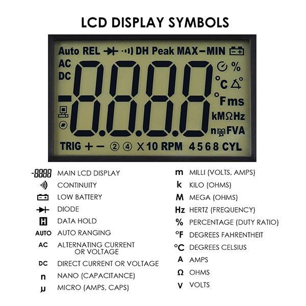2018 Eng 214 Auto Ranging Lcd Digital Multimeter Engine Analyzer