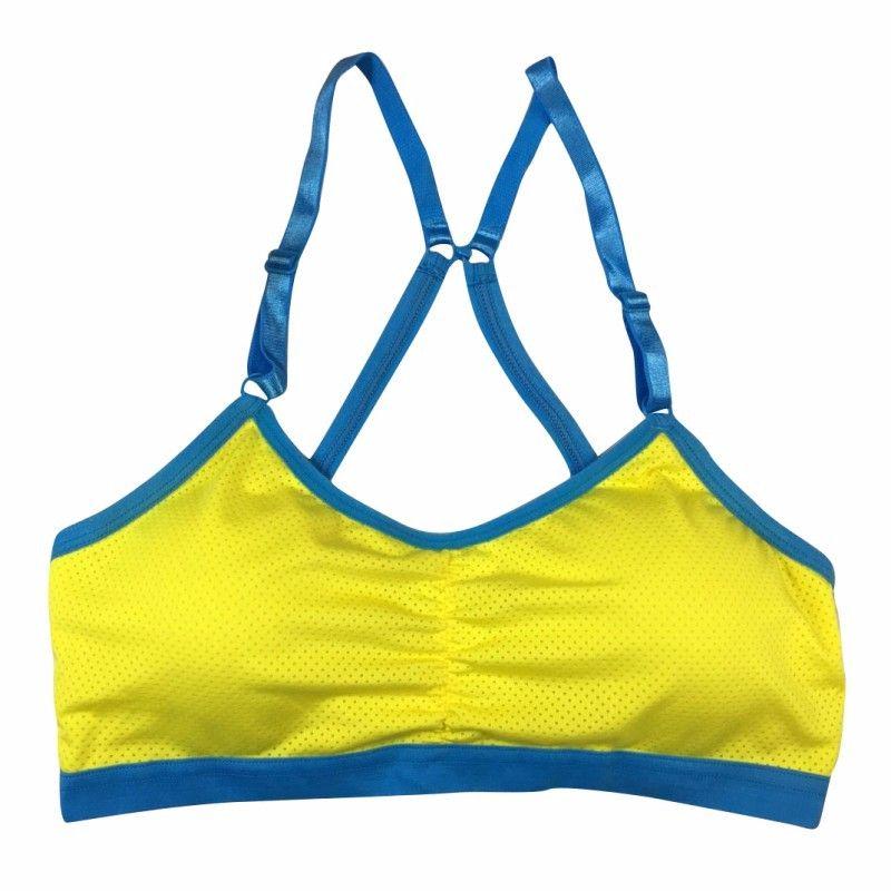 Mulheres Push Up Colheita Tops Sutiã Esportivo Respirável Aptidão Trecho Roupa Interior Yoga Bras Com Estofamento