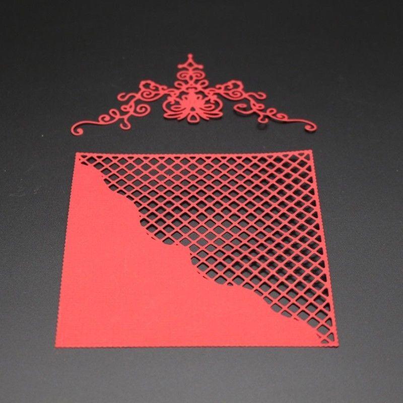 Troqueles de corte de marco de red de encaje Plantilla de metal Tarjeta de papel de álbum de recortes Artesanías de grabación en relieve del álbum