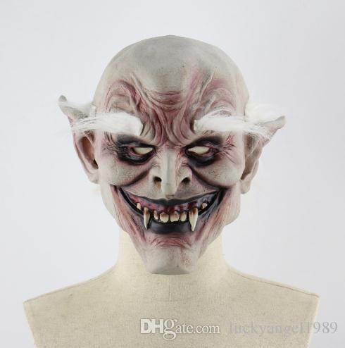 Halloween Clown Vampire Masks Decorative Ghost Latex Festival Demon Funny Horror Room Escape Party Prop Clown Mask for Adults Free Shipping