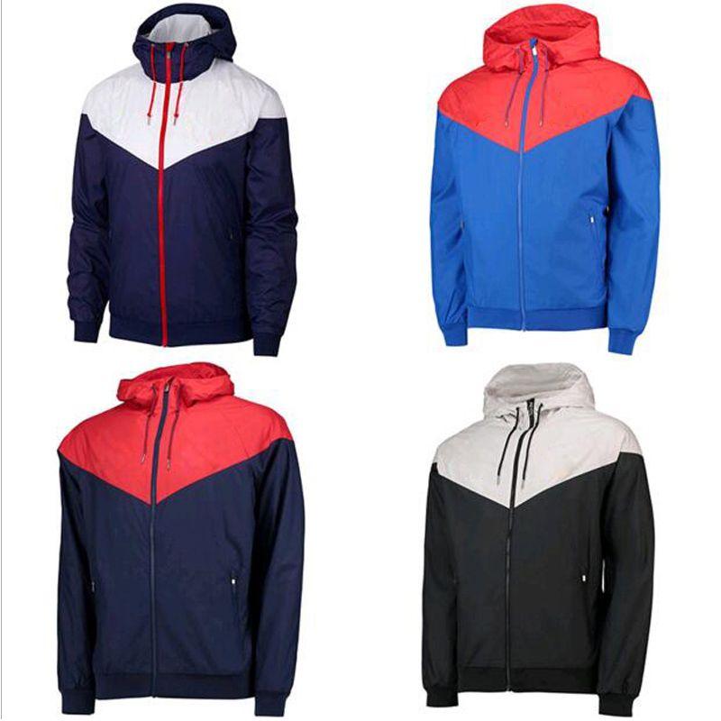 New Mens Windbreak Jaquetas Outono Running Jacket Frete Grátis Esportes Esportivos Venda Quente Esportes Casacos Com Capuz Masculinos Sportwears