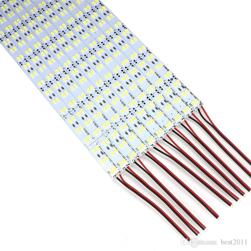 더블 행 1m DC 12V 144pcs * SMD 5630 5730 LED 바 리지드 LED 스트립 100cm 캐비닛 라이트 화이트 50m / lot
