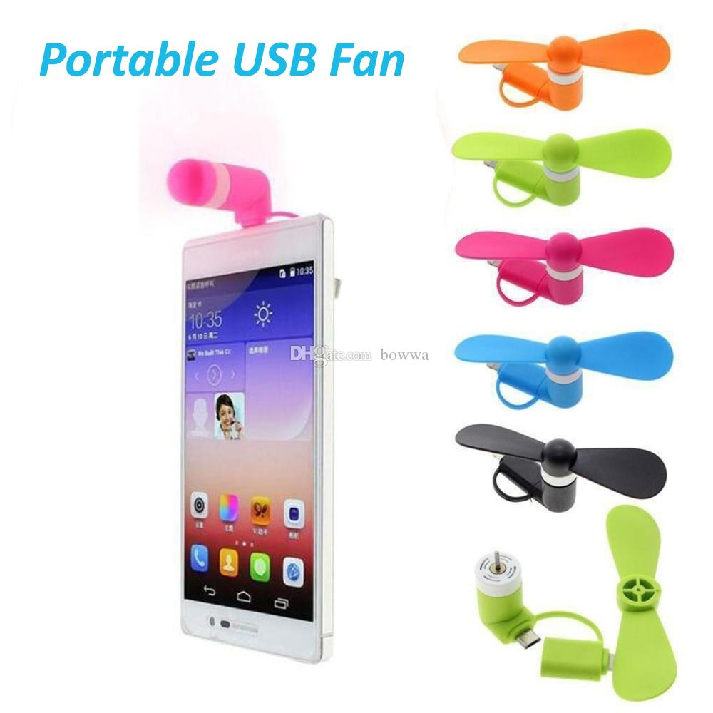 DHL 3 1 휴대용 대형 바람 음소거 미니 USB Type C 쿨링 팬 for iPhone 5 / 5s / 5c / 6 / 6 plus / 6s / 6s plus 7 8 X for Samsung Android Phone