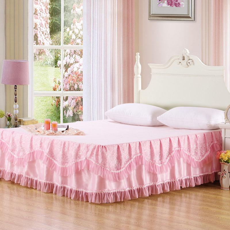 Pink Bed Skirt Queen.Romantic Lace Pink Bed Skirt Queen Size 180x200cm Skirted Bedspread One Piece Full Size Bedskirt White Bedskirts From Oopp 55 55 Dhgate Com