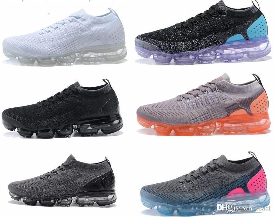 2018 Vapormax 2.0 туфли Тройной белый черный красный oreo Кроссовки мужчины Женщины тренеры Спортивная обувь Дизайнер кроссовок Повседневный размер обуви 36-45 Max AIRMAX