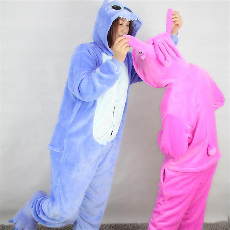 women onesie pajamas cartoon flannel dinosaur cat animal cosplay pajamas for women female lady thick sleepwear