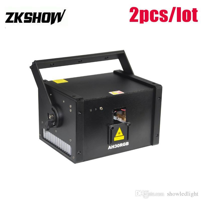 Iluminacion DJ 3W RGB LED Laser Animation Light DMX512 DJ Disco Club KTV Show Professional Stage Effect Lighting Projector Free Shipping