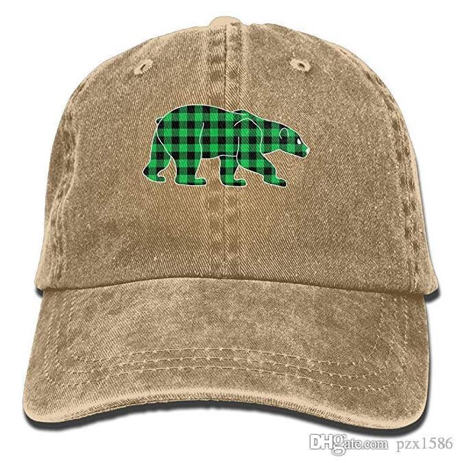 Bear Animal Baseball Caps Graphic Low Profile Snapback Hats for Teen Girls