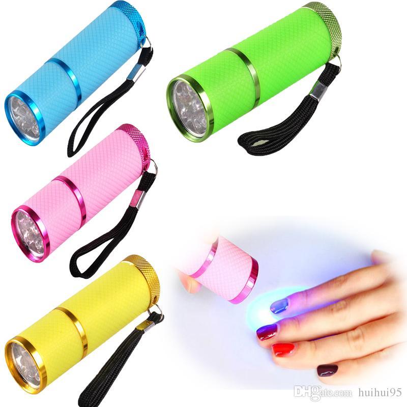 HOT Mini Nail Dryer LED UV Lamp Professional Led Lamp Gel Polish Nail Dryer LED Flashlight Fast Cure Nail Dryers 5pcs free ship