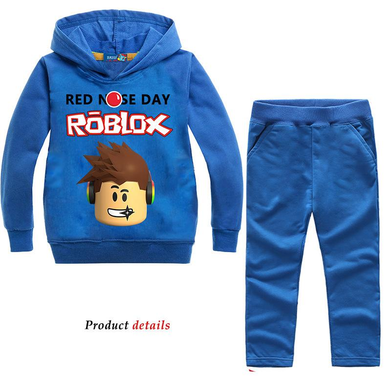 2020 Roblox Baby Boy Sports Hoodies Long Sleeve Coats Pants Suit