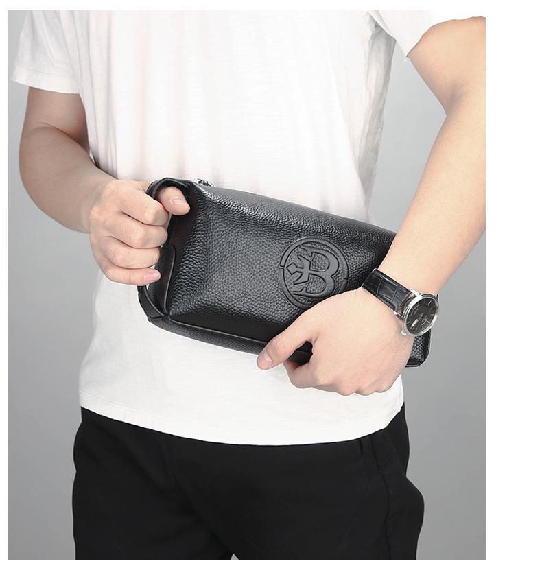 الجملة 2018 الأدمة التجارية الجديدة الرجال كبيرة حقيبة يد حقيبة يد قدرة رئيس أزياء جلد البقر.