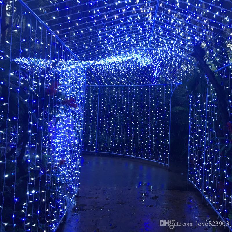 10 m * 5 m Outdoor 1600 LED Natale String Fairy Tenda Luci Flash Twinkle Vacanza Lampada Ball Vacanza Decorazione della Festa Nuziale 110 V Spina DEGLI STATI UNITI