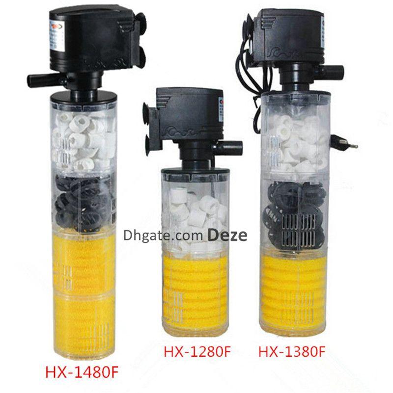 濾過メディアの空気ポンプ酸素の増加を伴う1つの多機能水族館水槽型フィルターポンプの魚タンク内部フィルター