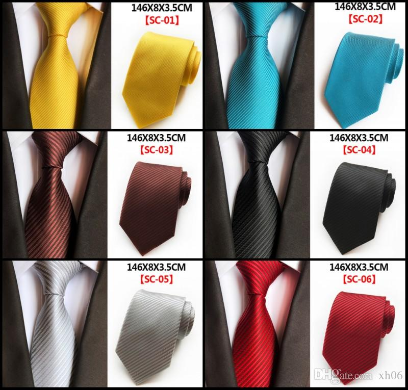 2018 New Arrival In stock Ties for Men 100% Silk Necktie Casual Skinny men Polyester colorful 145x8x3.5cm Handmade Wedding Party Neck Ties