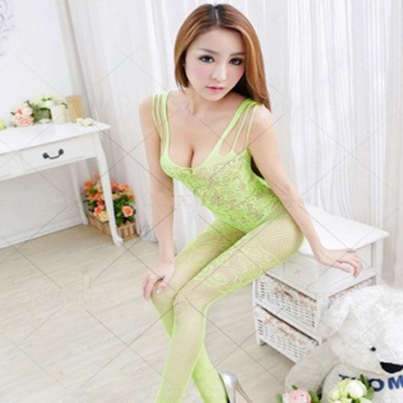 1 pc Women charming Sexy Lingerie Autumn summer Plus Size Fishnet Body Stocking Clothing Crotchless Bodysuit S926