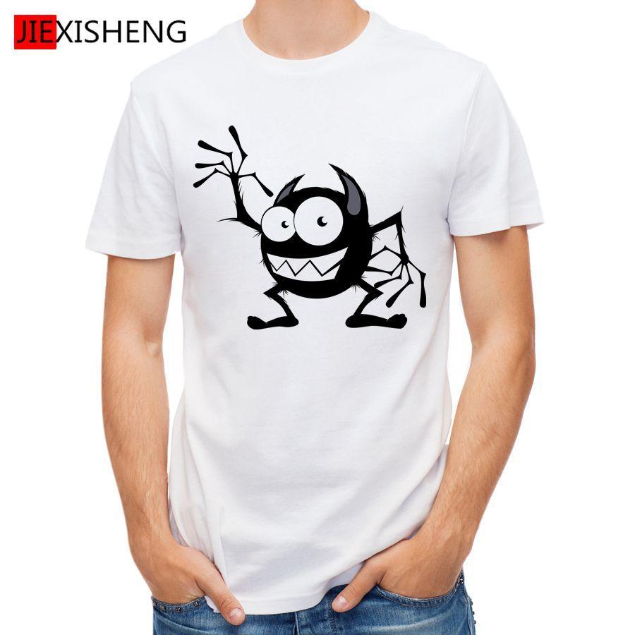 T-shirt dos homens impressão dos desenhos animados camiseta homens manga curta o-pescoço mais roupa de tamanho tees top