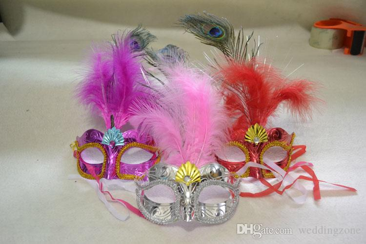 Halloween Makeup Dance Masks Luminescent LED Mask Princess Feather Mask For Masquerade Dancing Party Ball Prom Cosplay NightClub