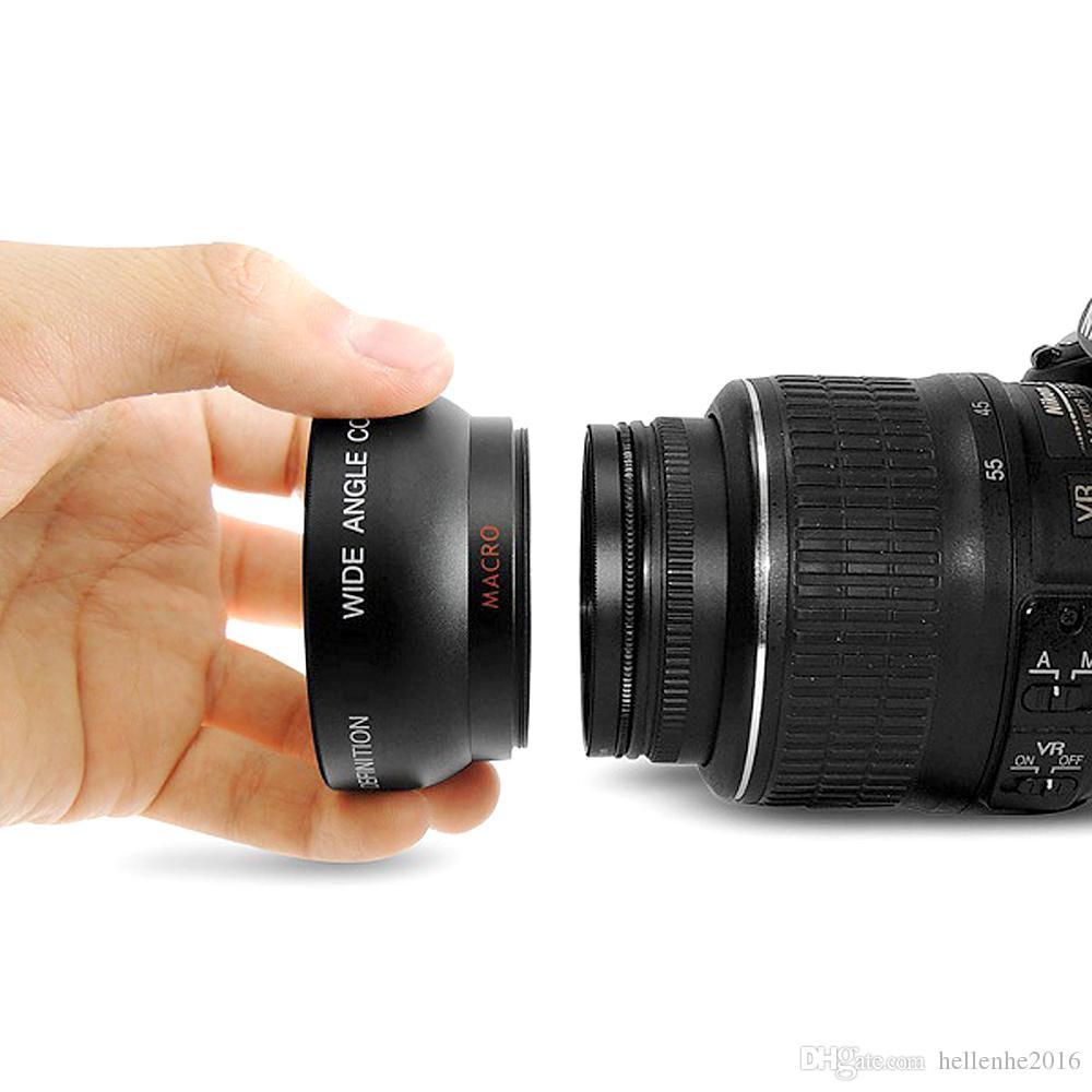 HD 52MM 0.45x زاوية واسعة عدسة مع عدسة ماكرو لكانون نيكون سوني بنتاكس 52MM DSLR الكاميرا