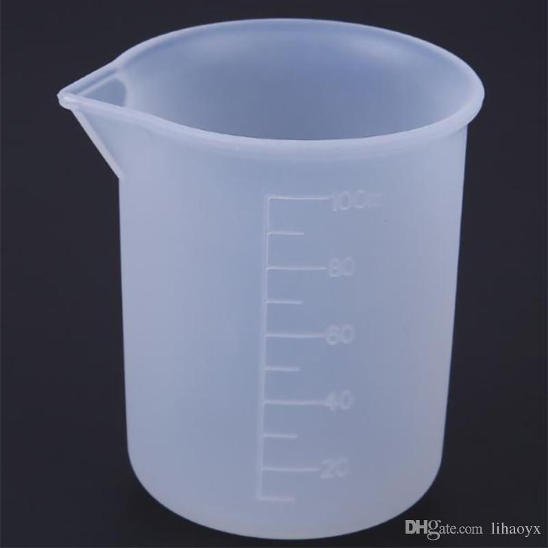 100 ml Taza de medición transparente con escala Herramientas de medición de pegamento para DIY Hornear Cocina Bar Comedor Accesorios TO871
