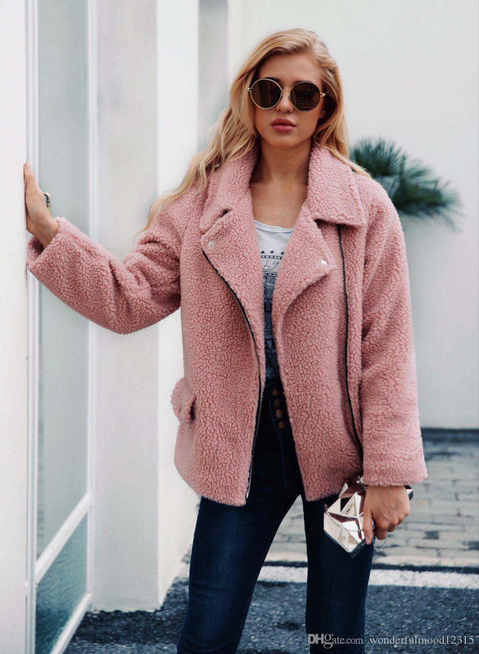 Европейская и американская новая мода AutumnWinter одежда Женская искусственного меха куртка пальто