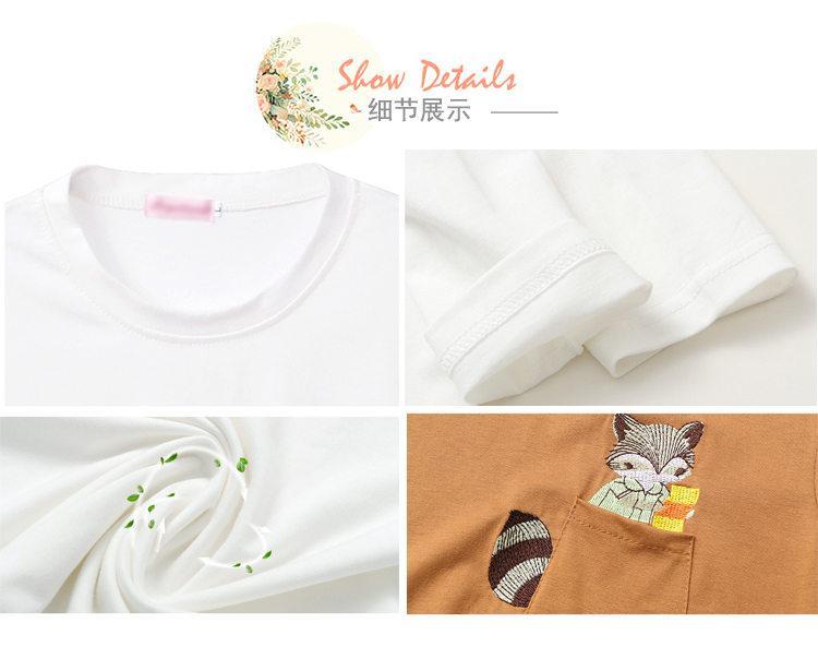 Embroidery T-shirts Women Tshirt O-neck Long Sleeve T-shirts Women Autumn Tops Tee Shirt Femme 2019 Cotton Camisetas Large Size (16)