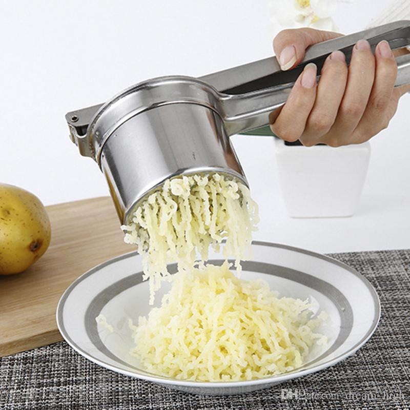 Kartoffelpresse Kartoffelpüree Gemüsepresse Obststampfer Obstpresse manuell