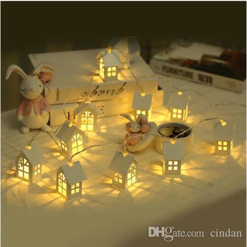 2M 10pcs 가정을위한 LED 크리스마스 트리 하우스 스타일 요정 빛 Led 문자열 결혼식 산후 화환 새해 크리스마스 장식